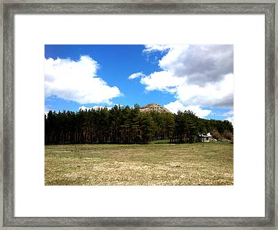 Framed Print featuring the photograph At The Top by Lucy D