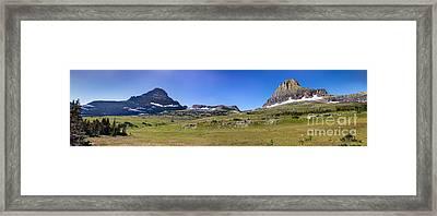 At The Top Of Logan Pass Framed Print by Robert Bales