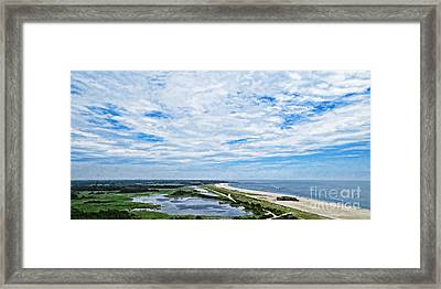 At The Top Of The Lighthouse Framed Print