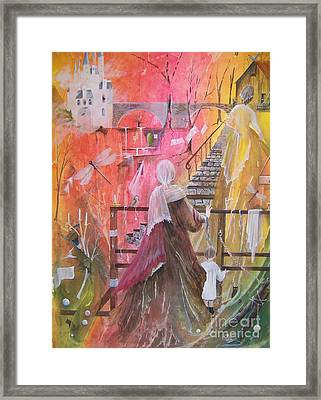 At The Top Of The Stairs Framed Print