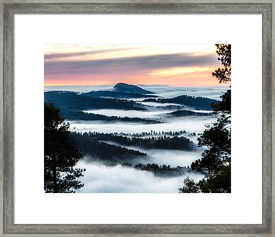 At The Top Of The World Framed Print