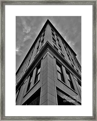 At The V Framed Print