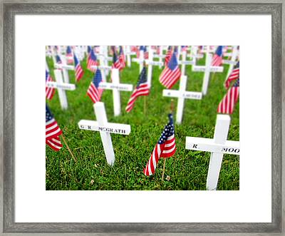 At The Vfw 2 Framed Print by M Landis