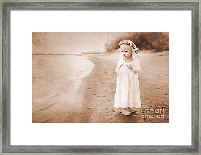 At The Waters Edge Framed Print by Cindy Singleton