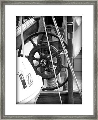 At The Wheel Bw Framed Print by Dancingfire Brenda Morrell