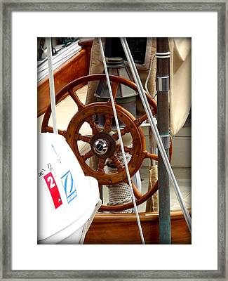 At The Wheel Framed Print by Dancingfire Brenda Morrell