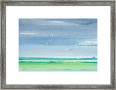 At The Whim Of The Wind Framed Print by Michelle Wiarda