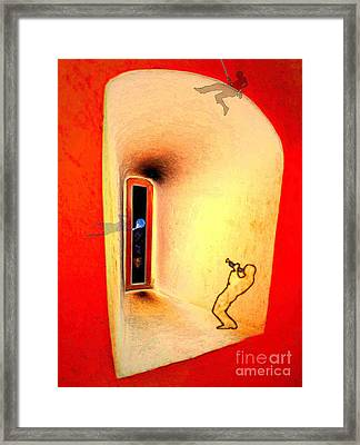 Framed Print featuring the digital art At The Window 01 by Mojo Mendiola
