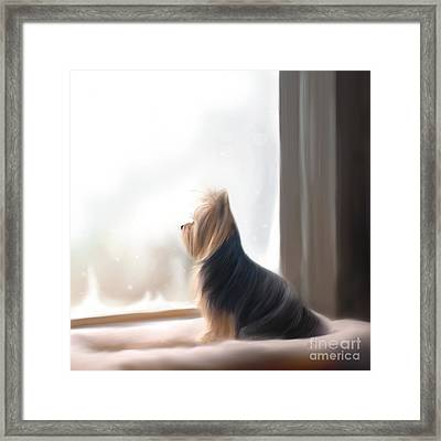 At The Window Framed Print