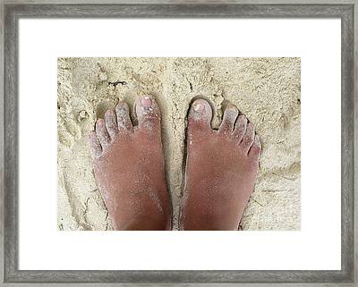 Framed Print featuring the photograph At White Sand Beach by Ranjini Kandasamy