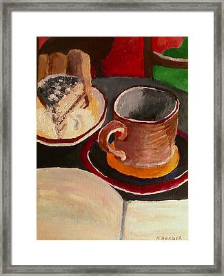 At Witches Brew Tiramisu Coffee And Writing Too Framed Print by Darlene Berger
