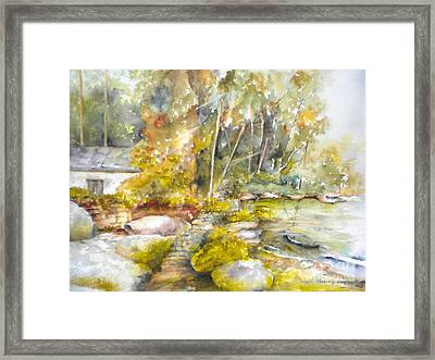 At Wolf Island  Framed Print
