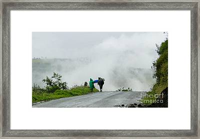 At Work In The Mist And Fog In The Andes Framed Print by Al Bourassa