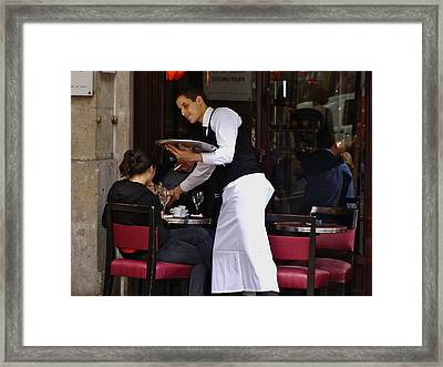 Framed Print featuring the photograph At Your Service by Ira Shander