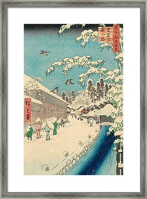 Atagoshita And Yabu Lane Framed Print