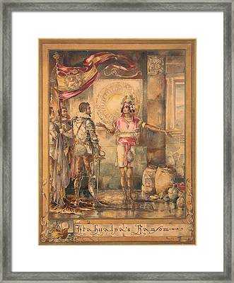Atahualpa's Ransom Helen Maitland Armstrong Framed Print by Paul Ashby Antique Paintings