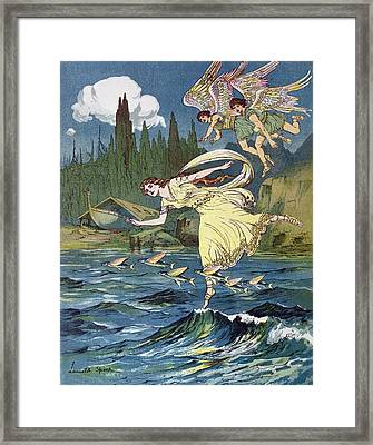 Atalanta And The Sons Of The North Wind Framed Print by Lancelot Speed