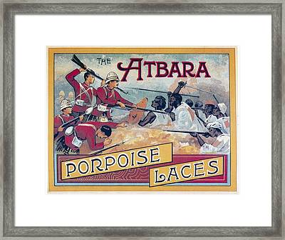 Atbara Porpoise Laces Vintage Ad Framed Print by Gianfranco Weiss
