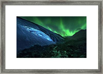 Athabasca Cave Framed Print