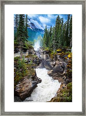 Athabasca Falls Framed Print by Chris Heitstuman