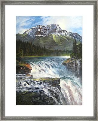 Athabasca Falls Framed Print