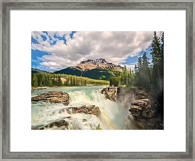Athabasca Falls Framed Print by Tracy Munson
