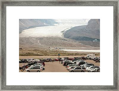 Athabasca Glacier Is Receding Rapidly Framed Print by Ashley Cooper