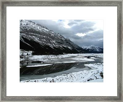 Maligne Valley Journey Framed Print by Shirley Sirois