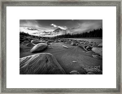 Athabasca River Water Worn Stones Framed Print
