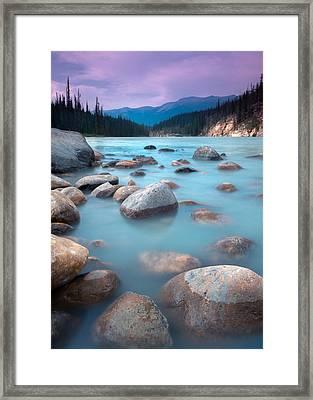 Athabasca Rocks Framed Print
