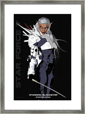 Atharian Blackstar Print #1 Framed Print by Donnie Maynard Christianson