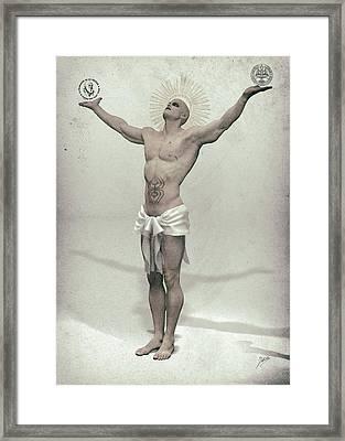 Saint Humanist And Atheist Framed Print