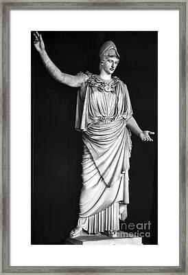 Athena Or Minerva Framed Print by Granger