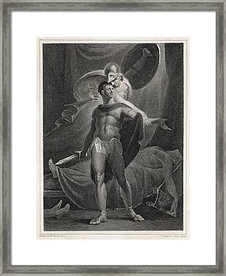 Athena/minerva Advises  Diomedes - Who Framed Print by Mary Evans Picture Library