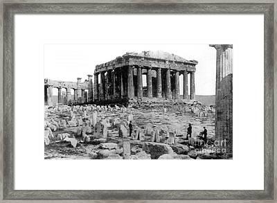 Athenian Acropolis, Parthenon, 1910 Framed Print