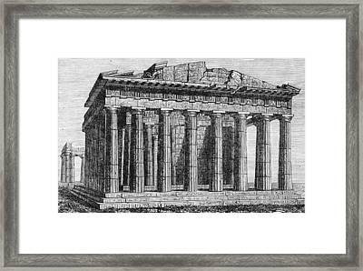 Athenian Acropolis, Parthenon Framed Print