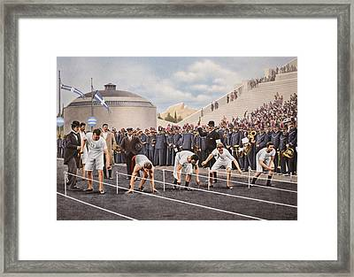 Athens 1896 Framed Print by English School