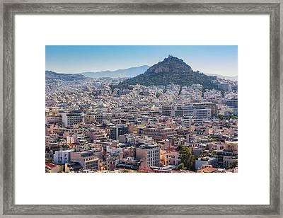 Athens, Attica, Greece. View Framed Print