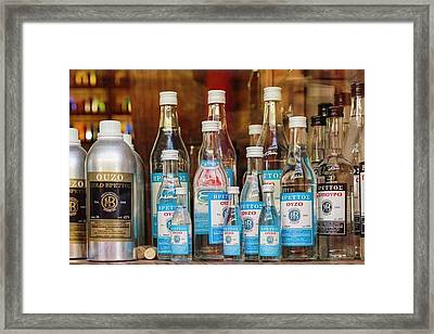 Athens, Greece.  Greek Drinks Framed Print by Ken Welsh