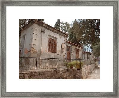 Athens Street Ruin Framed Print by Deborah Smolinske