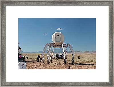 Athlete Lunar Rover Testing Framed Print