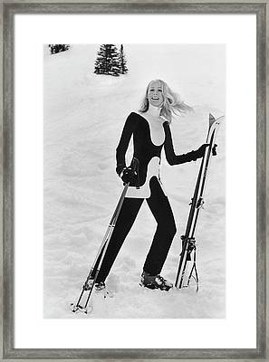 Athlete Suzy Chaffee Framed Print by Toni Frissell