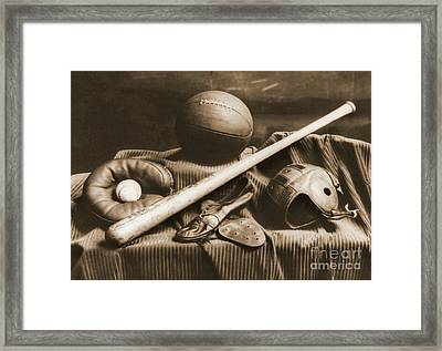 Athletic Equipment 1940 Framed Print by Padre Art