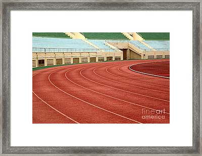 Athletic Track And Field Markings Framed Print