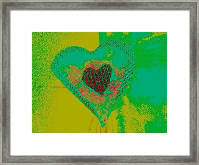 Athlone Heart Framed Print by Dorothy Rafferty