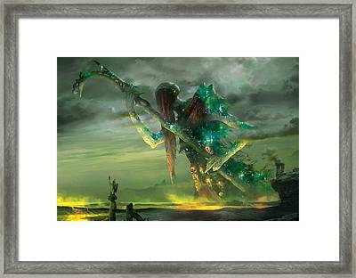 Athreos God Of Passage Framed Print