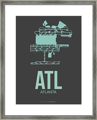 Atl Atlanta Airport Poster 2 Framed Print