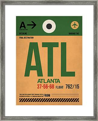 Atlanta Airport Poster 1 Framed Print by Naxart Studio