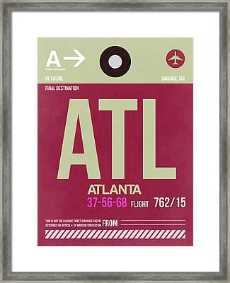 Atlanta Airport Poster 2 Framed Print by Naxart Studio