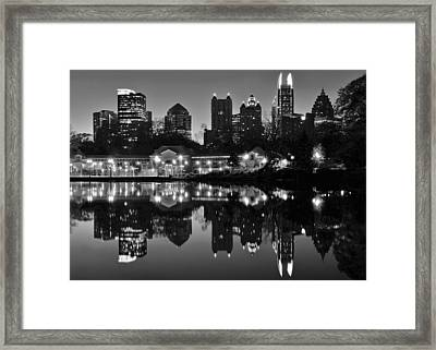 Atlanta Black And White Framed Print by Frozen in Time Fine Art Photography